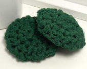 Reusable Dish Scrubbers - Green Scouring Pads - Set of 2 Christmas Green