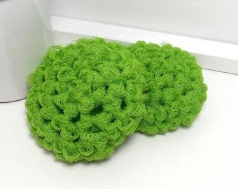 Lime Scrubbies, Pot Scrubby, Reusable Dish Scrubbies, Crochet Scrubbies, Nylon Scrubby, Green Scouring Pads, Crochet Scrubber, Set of 2