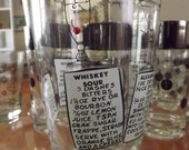 Mixology 101 Glass/Vintage Drink Recipe Glass/Thorpe Inspired Mixing Tumbler