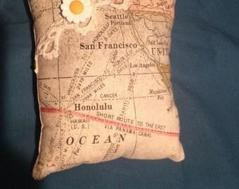 Map Pincushion