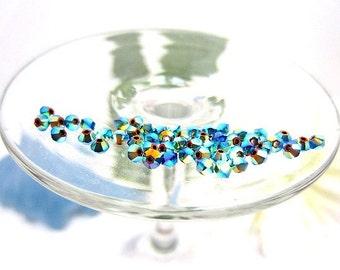 Swarovski Crystal Beads 3mm Art 5328 Jet AB2X - 60 Pieces