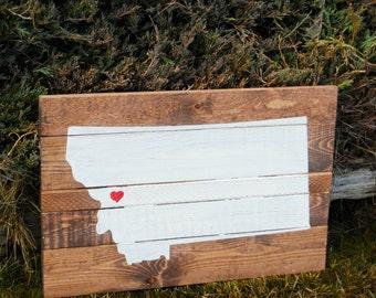 Handmade Custom State Pallet Pallette Sign