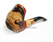 NEW Pipe, Big Carved TIGER Wooden pipe, Tobacco pipe Smoking Pipe for Pipe Smokers, Wooden carved pipe. BEST Offer
