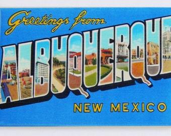 Greetings from Albuquerque Fridge Magnet
