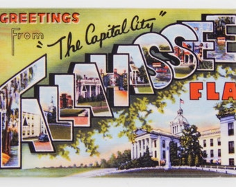 Greetings from Tallahassee Fridge Magnet