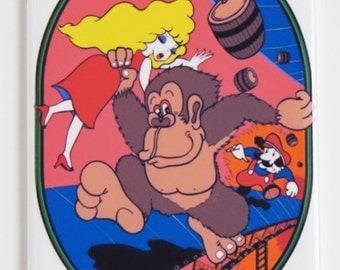 Donkey Kong Side Art Fridge Magnet