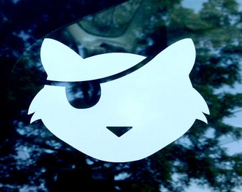 Pirate Kitty Car Decal