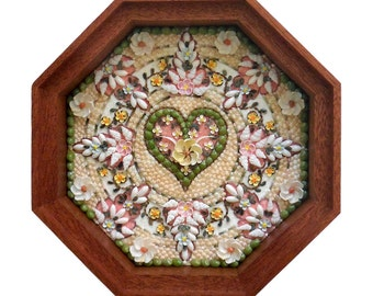 Sailors Valentine -  Sea shell art - Piece of Heaven
