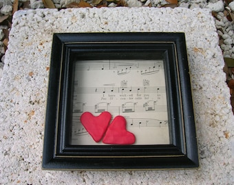 Half Price Sale  Two of Hearts,  Original Picture / Shadowbox