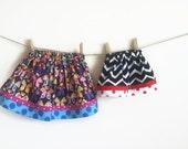 Easy to Sew Twirl Skirt PATTERN 6 months - 5T, digital file, girls toddler twirl skirt, play skirt