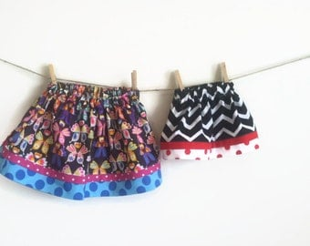 Easy to Sew Twirl Skirt PATTERN 6 months - 5T, digital file, girls toddler twirl skirt, play skirt