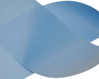 "Millenium Blue Solid Grosgrain 2.25"" Wide - Also available in other colors - Made in the USA"