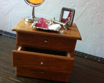 Barbie Doll House Silver DRESSER VIGNETTE Room Furniture & Accessories Bedroom Mirror Vanity
