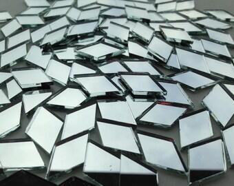 Mosaic Tiles - Mirror - 500 Small Diamonds - Mirror Glass - Hand-Cut