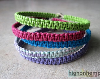 Bracelet Set, Macrame Bracelets, Minimalist Bracelets, Spring Bracelets, Hemp Bracelets, Pastel Bracelets, Set of 5 Bracelets