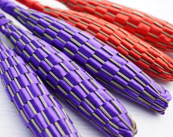Red or Purple, Large Organic Lavender Wand, Woven from Freshly Picked Flowers from my Garden, Wedding Decor, Made in Canada