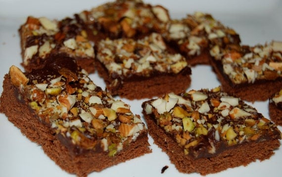 Chocolate Shortbread Cookies Bars Pistachio Almond edible gift
