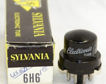 Sylvania 6H6 Electronic Tube - w/ Original Box - Vintage 1960's