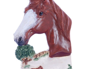 Christmas Ornament Sorrel Chestnut Horse Personalized with your favorite equine or equine lovers name made in the USA from resin (h51)