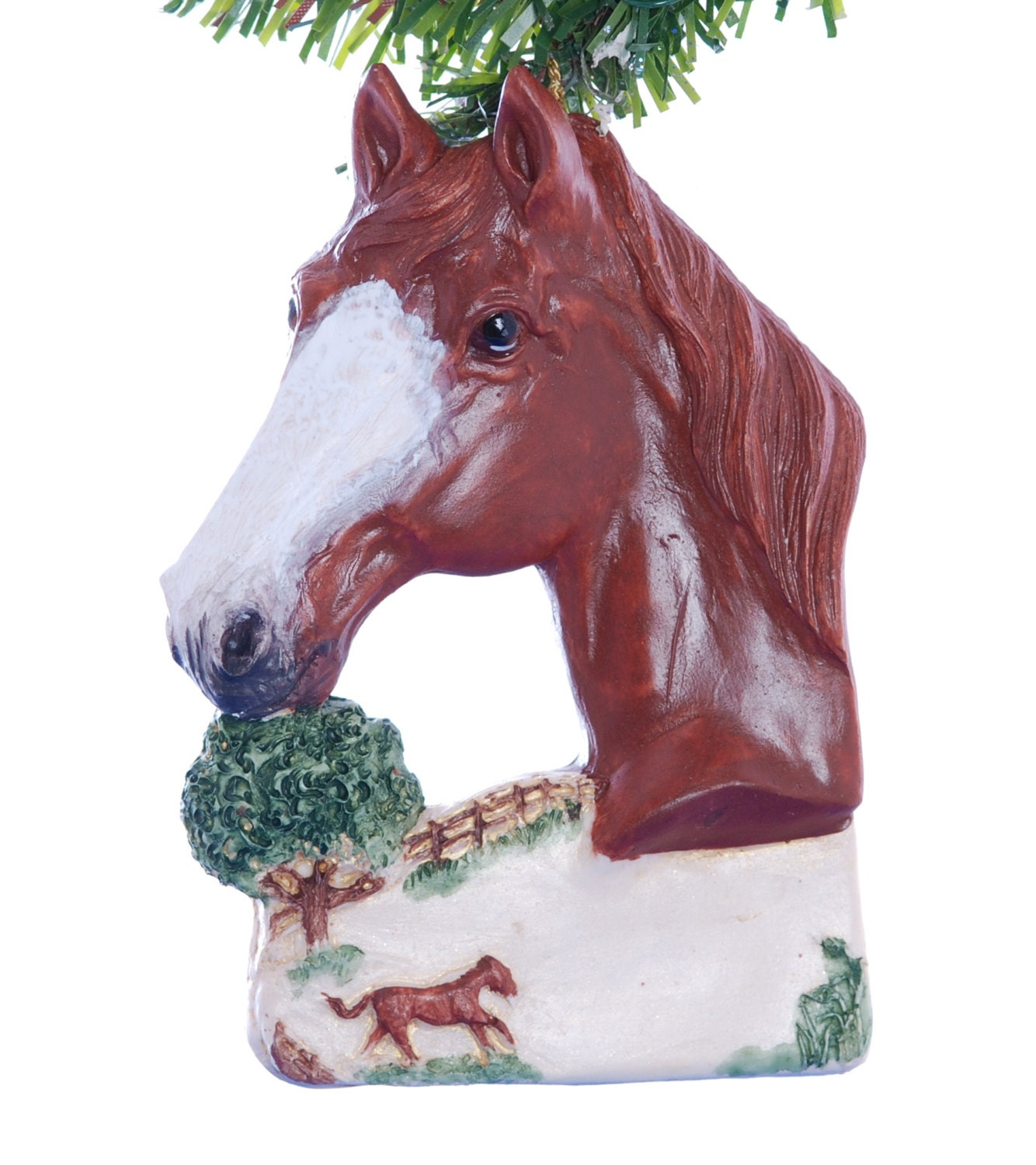 Christmas Ornament Sorrel Chestnut Horse Personalized with - photo#46