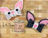 Bunny 3D Felt Bow Hair Clippie