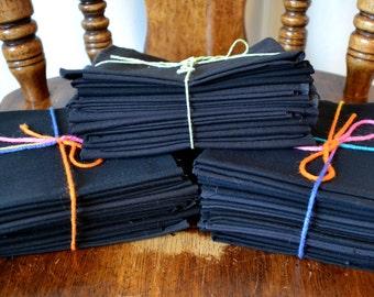 Destash Fabric Scrap Bundles Scrap Pack Solid Color Black 10 oz