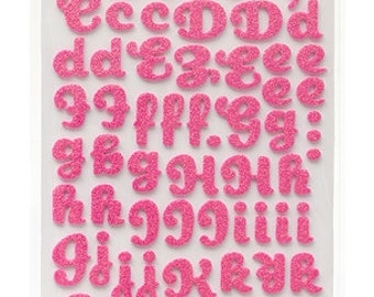 Dear Lizzy Polka Dot Party Soiree Begonia Glitter Thickers -- MSRP 5.00