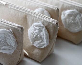 Set of 12 - Bridesmaid Clutch Purse, Linen, Bridesmaids Gift, Wedding