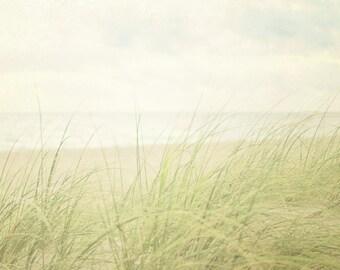 Coastal Photography, White Beach House Decor, Seaside Photograph, Beach Picture, Oversized Wall Art, Neutral Artwork