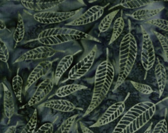 Fresh Water Designs - Boho Vibe Batik - Green Leaf