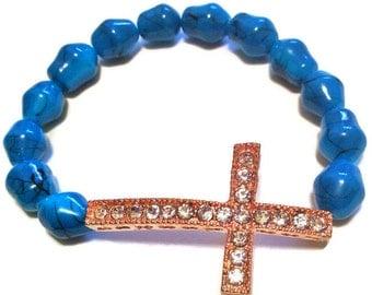 Rose Gold Cross Bracelet