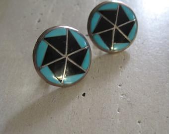 Zuni pinwheel earrings