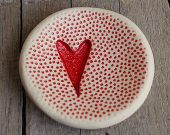 Heart Ring Dish, Red, Ring Dish, Heart Collection