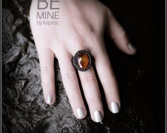 Macrame Onyx Ring