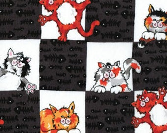 Cats, Kitty Cats, Alley Cat by Kanvas Studio, Cat Fabric, Kitty Fabric, 02225