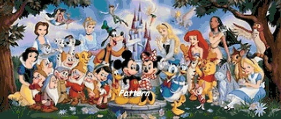 Disney Heroes N16. Counted Cross Stitch Pattern.  PDF Files.