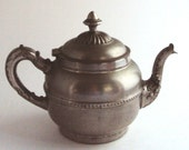 Tea Pot in Copper with Silver or Metal Plate - Ornate and Graceful