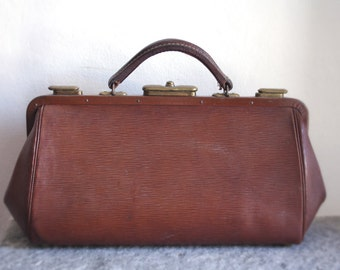 DOCTOR BAG // 1900s Antique bag // Victorian French Satchel //