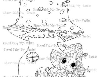 INSTANT DOWNLOAD Digital Digi Stamps Big Eye Big Head Dolls Digi  My Besties Lady Bug House By Sherri Baldy