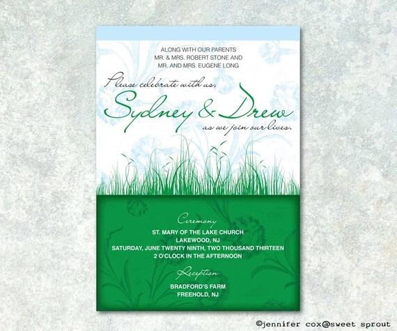 In The Fields UNIQUE WEDDING INVITATION
