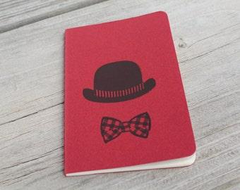 Mini Bowler Derby Hat Bow Tie Journal