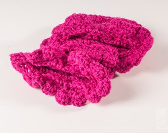Boot Cuffs, Cabled -  Color Choice, Ready to Ship, Pink with Ruffle Top, or White