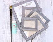 DIY SHABBY CHIC Frames Kit, Set of Five Frames Primed and Ready To Paint