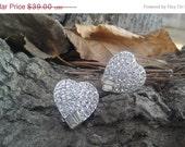 SALE Totally in Love - Vintage Weiss Heart Earrings on Original Card