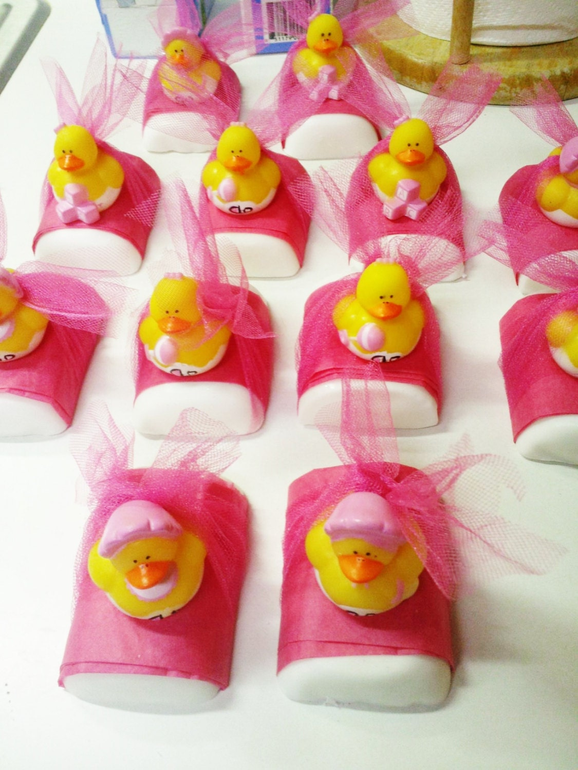 Baby Shower Favors Duck Soap ~ One dozen handmade rubber ducky soap party favor baby shower