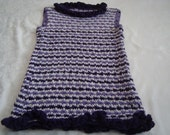 Kids.Vest/Jumper.Knit in Purple.Wool. Girls.School.Ready  to  ship.