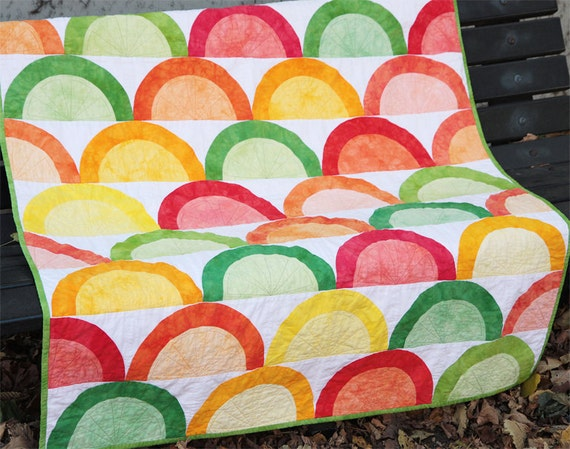 Citrus quilt pattern--instant download PDF