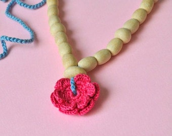 SALE 30%- Flower Nursing Necklace/Teething Necklace by SimplyaCircle-Breastfeeding Necklace-Mother's day