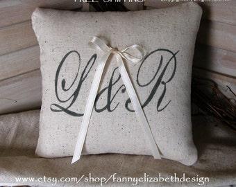 Ring Pillow- FREE SHIPPING-Ringbearer Pillow- Weddings-Ring Pillows-Ringbearer Pillows-Shabby Chic Weddings-Rustic Weddings-Flower Girl