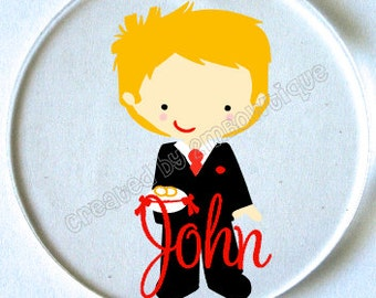 Ring Bearer Ornament/Key Chain with Name. Great gift idea